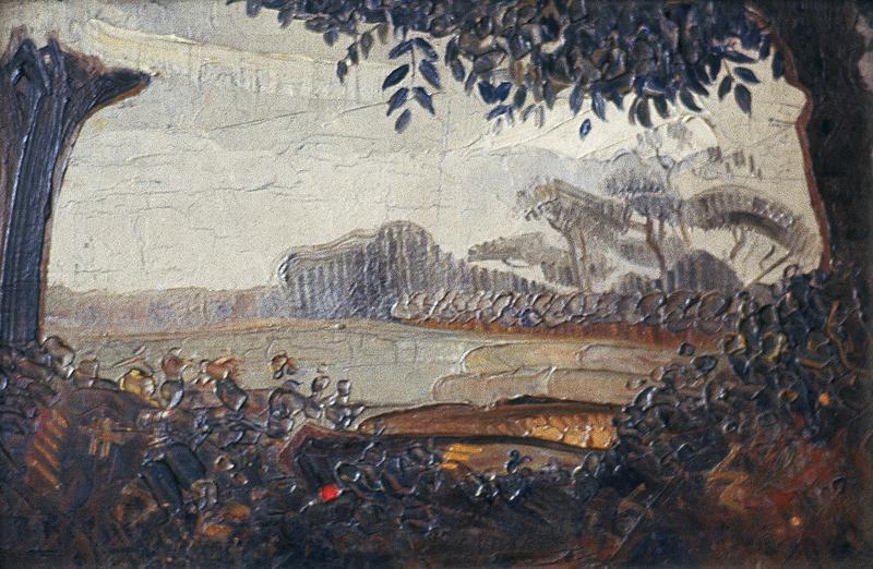 Environs de Frethum- Paysage au point rouge